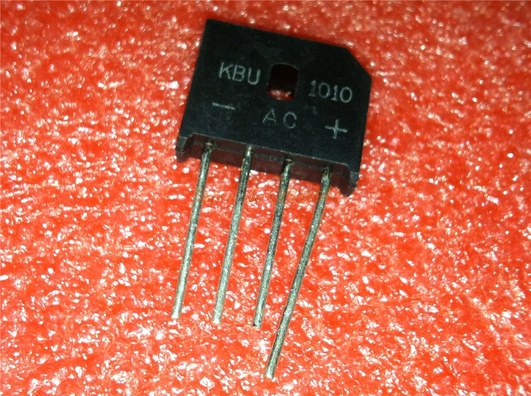 5pcs/lot KBU1010 KBU-1010 10A 1000V ZIP-4 In Stock