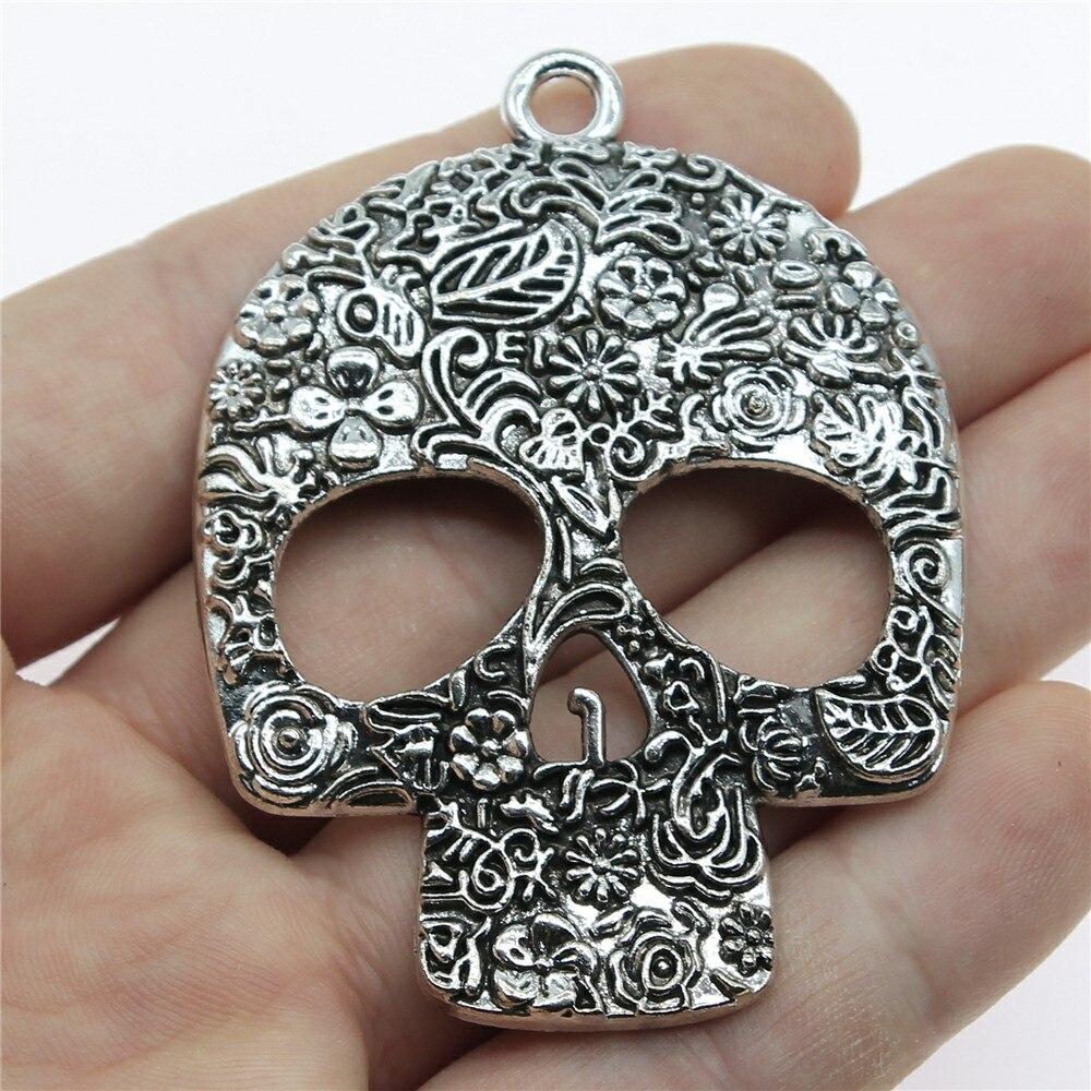 15//30pcs Retro style skull Charm Pendant DIY Jewellery crafts 32x30mm