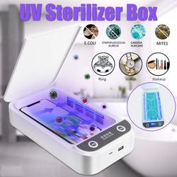 5V UV Phone Sterilizer Box Jewelry Phones Cleaner Personal Sanitizer Disinfection Box Phone box with Aromatherapy