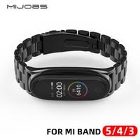 Mi Band 5 Strap Metal Stainless Steel For Xiaomi Mi Band 4 Strap Compatible Bracelet Miband 3 Wristband Pulseira Mi band5 Correa