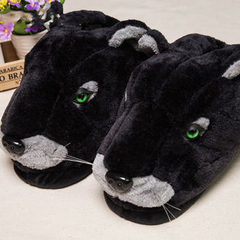 Snow leopard cotton slippers, bag with thick bottom lovers home slippers leopard women men slippers indoor slippers winter фото