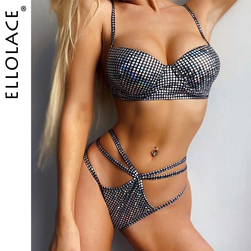 Ellolace Sexy Fashion Bikini Set High Cut Female Swimwear Women Bathing Suit Beach Wear 2020 Bikinis Wholesale Biquini