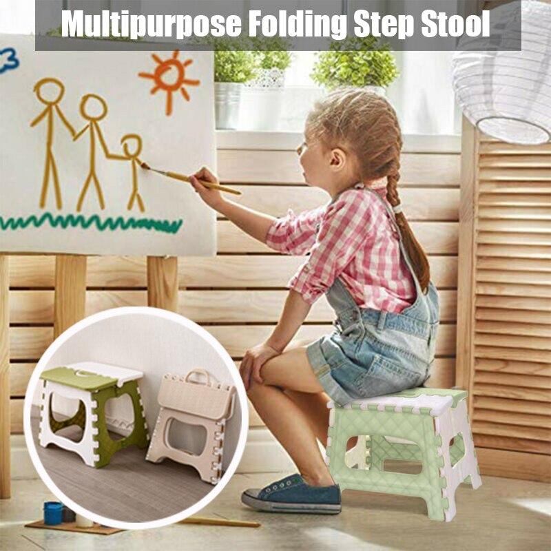 Plastic Multipurpose Folding Step Stool Home Train Outdoor Foldable Storage Convenient UD88