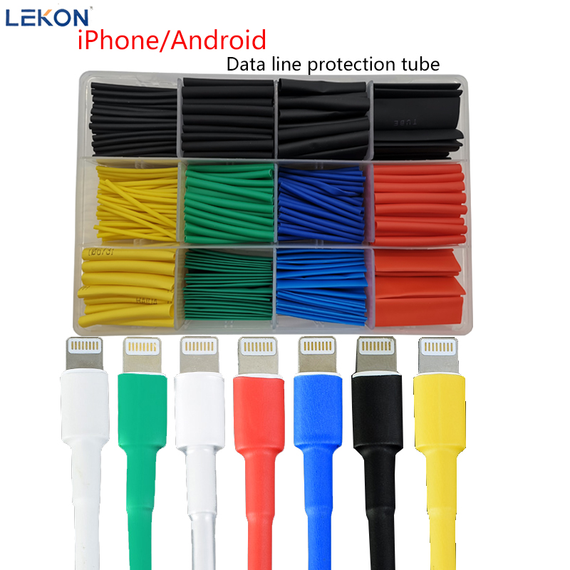 Heat Shrinkable Data Cable Repairing Apple Android Insulating Sleeve Earphone Wire Protection Sleeve Shrinkable Sleeve