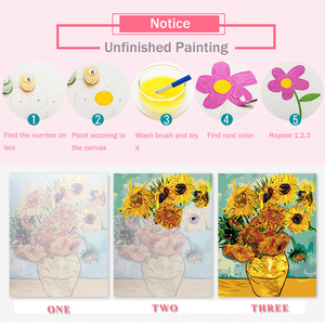 Image 5 - AZQSD Oil Painting Flower In Vase Painting By Numbers Paint Flower DIY Canvas Picture Hand Painted Home Decoration SZYH6310
