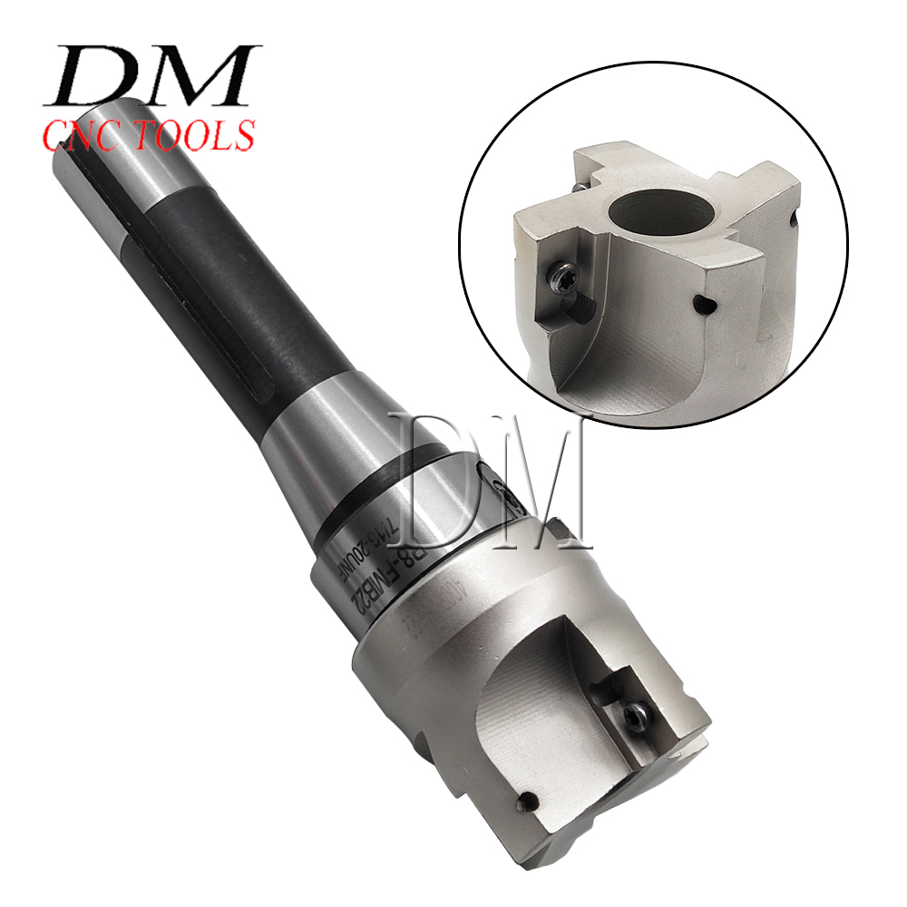 400R 50MM Shell Mill Cutter and 4pcs Carbide Inserts Face End Mill Cutter Set