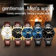 OLEVS Men Women Fashion Round Dial Waterproof Analog Display Quartz Watch Gift