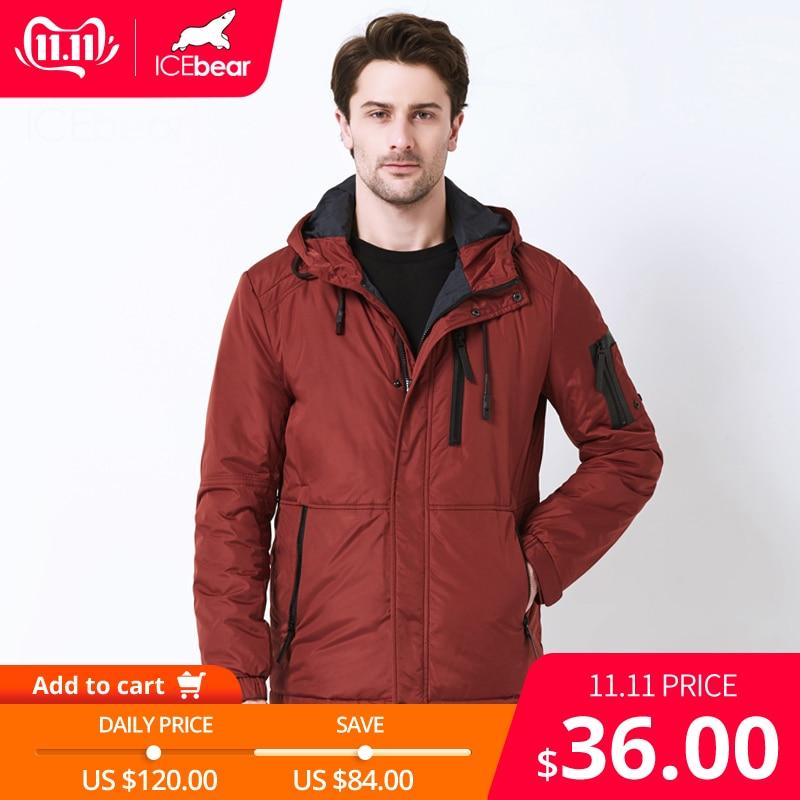 ICEbear 2019 automne nouvelle veste décontracté pour hommes col de mode hommes chapeau hommes marque veste MWC18107I
