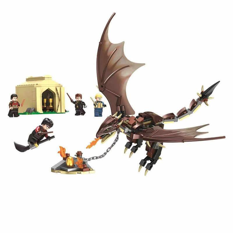 Harri film magique école calèche Voldemort horloge tour bloc de construction jouets compatibles legoinglys 75945 75946 75957 75958 75965
