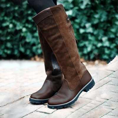 LOOZYKIT חדש סתיו נשים ארוך מגפי רכיבה מזדמנים רומא סגנון אתחול סתיו חורף ירך גבוהה Loose נעלי Botas Mujer הנעלה