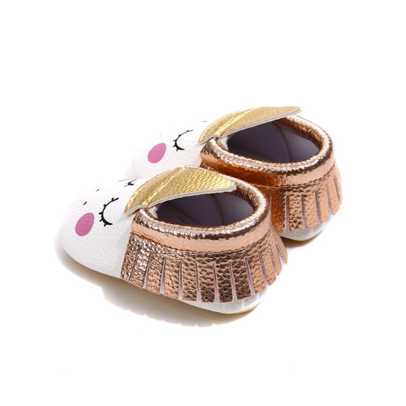 Fashion New Baby Girls Boys Infant Toddler Leather Cute Moccasins Moccs Shoes US