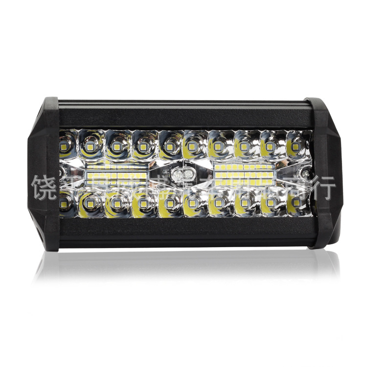 Manufacturers Direct Selling New Style Automobile LED Working Lamp 120w40 Lamp Trinocular-Three Rows Strip Off-Road Vehicle Top