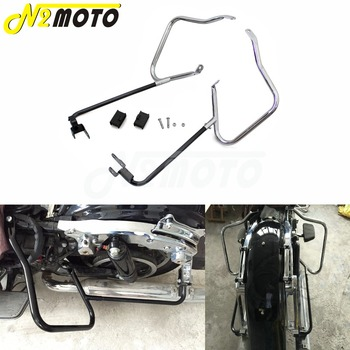 Motorcycle Saddlebag Bracket Bar Guard for Harley Touring Road King Road Street Glide FLHX FLHXS FLHXSE FLHR FLTRU 2014-2017