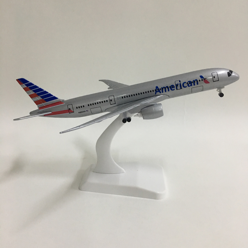 20CM American Airlines Boeing 787 Airplane Model United States B777 Plane Model 16CM Alloy Metal Diecast  Aircraft Model Toy