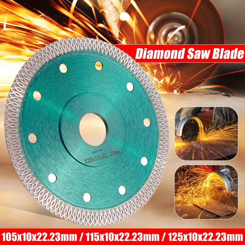 DOERSUPP Green 105/115/125mm Diamond Saws Blade Hot Pressed Sintered Mesh Turbo Cutting Disc For Granite Marble Tile Ceramic