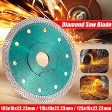 DOERSUPP Hoja de sierras de diamante de 105/115/125mm, disco de corte Turbo de malla sinterizada en caliente para baldosas de mármol y granito, cerámica
