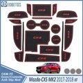 Противоскользящий коврик для Mazda CX-5 2017 2018 2019 MK2 KF CX5 CX 5 Аксессуары затворный слот подставка анти-грязный Салонные подложки автомобиля