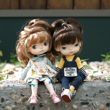 Novo monst bonecas bjd bonecas de borracha bady menina bonecas dos desenhos animados bonito bonecas