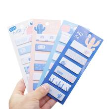 1pack/lot Korean Stationery Cactus Notes Four Random Post It Set For School And Office