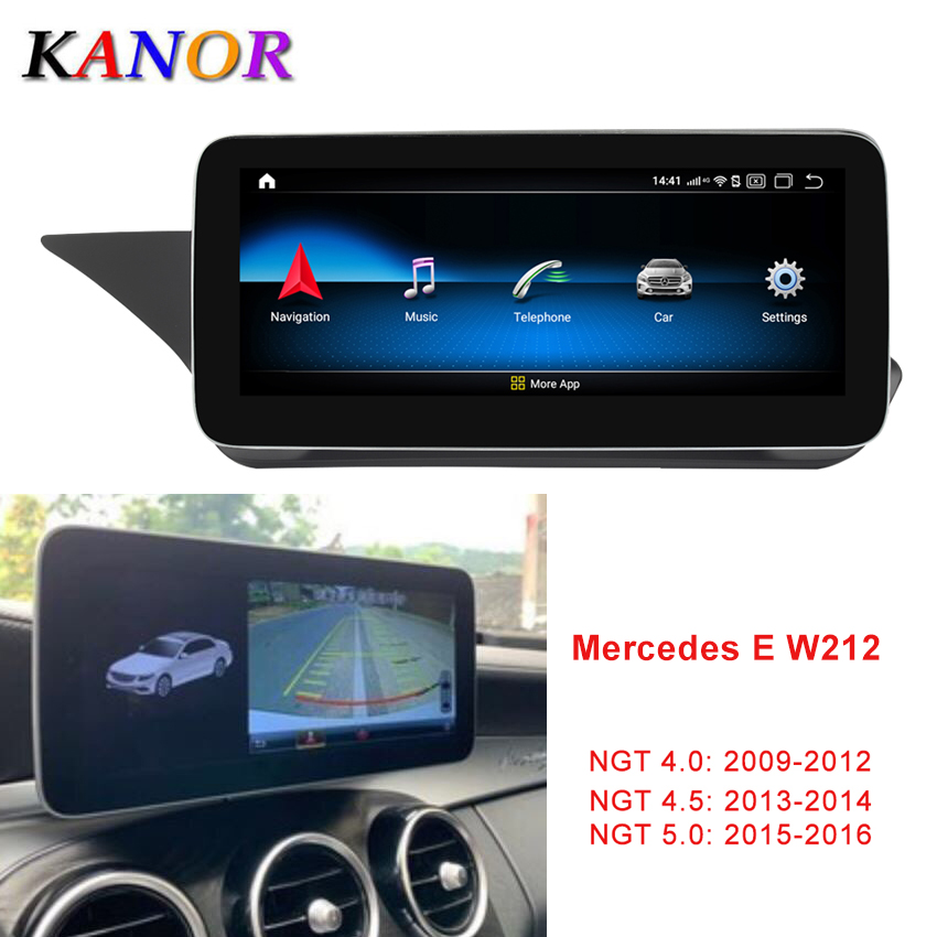 Kanor 10.25 Inch 4 + 64G Display Android 10.0 <font><b>for</b></font> <font><b>Mercedes</b></font> Benz E Class W212 <font><b>E200</b></font> E230 E260 E300 S212 2009- 2015 Auto Stereo image