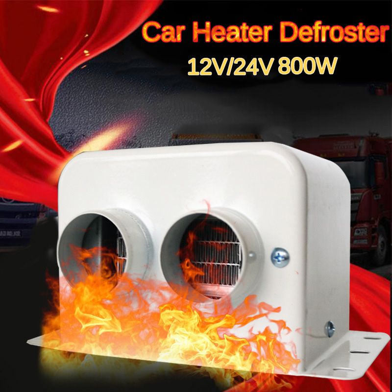 12V Car Heater Fans 800W Car Glass Defroster Window Heater For Winter Auto Air Outlet 2 Warm Interior Dryer Heating Accessorie