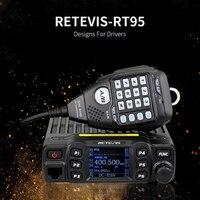 vhf uhf השחור החדש Retevis RT95 Dual Band VHF 144-146MHz UHF 430 ~ 440MHz 200 ערוצים נייד לרכב רדיו A9129A (1)
