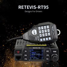 New Black Retevis RT95 Dual Band VHF 144-146MHz UHF 430~440MHz 200 Channels Mobile Car Radio A9129A