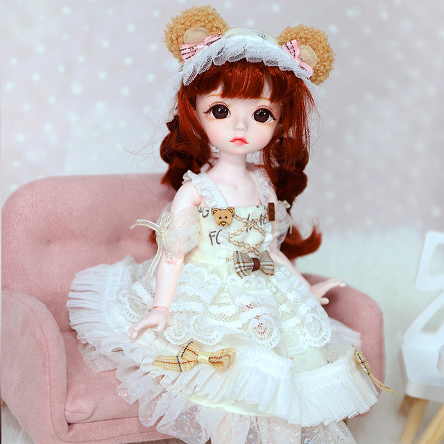 DBS little angel 1/6 BJD mechanical joint body with makeup including eyes clothes shoes girl SD