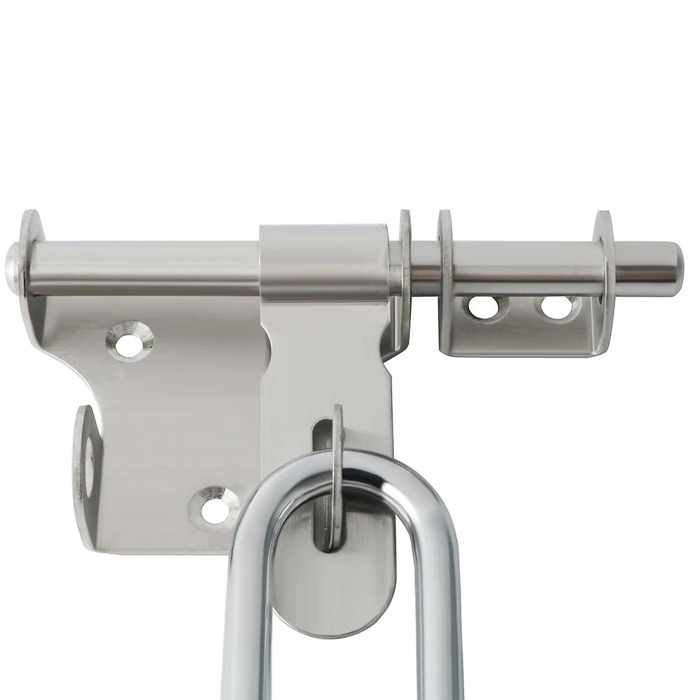 Slide Bolt Gate Latch Safety Door Lock with Padlock Hole Heavy Duty Diameter Bar