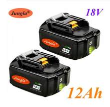 2 pces original 18v 12ah bateria recarregável 12000mah bateria li-ion bateria de energia de substituição para makita bl1880 bl1860 bl1830