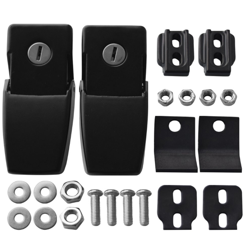 Stainless Steel Hood Latches Hood Lock Catch Latches Kit For Jeep Wrangler Jk Jl 2007-2018 Unlimited