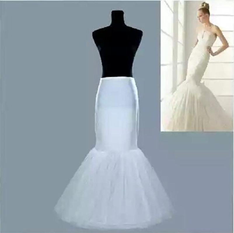 Wholesale Mermaid Crinoline Petticoats Plus Size Sexy Bridal Hoop Skirt High Quality Ruffle Wedding Accessories