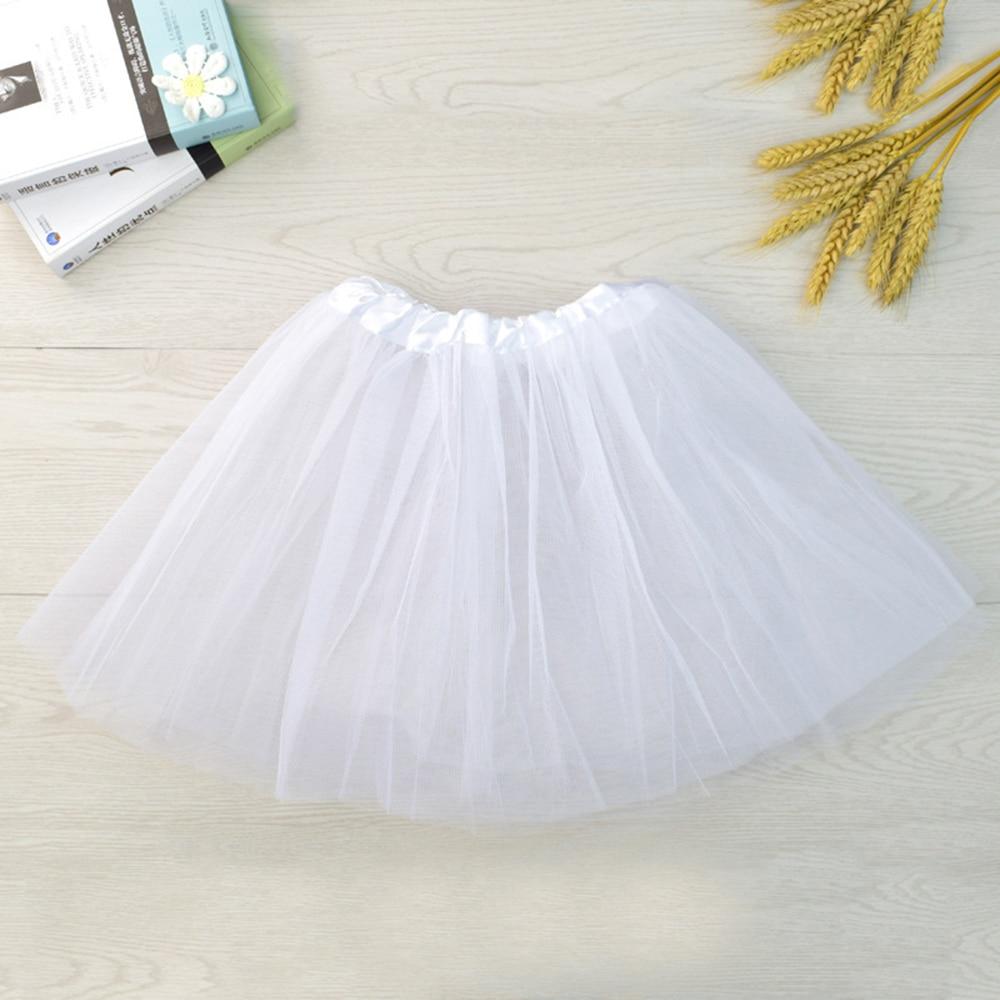 Baby Kids Girl Cute Fluffy Tulle Pettiskirt Tutu Skirt Ballet Dance Costume Baby Kids Girl