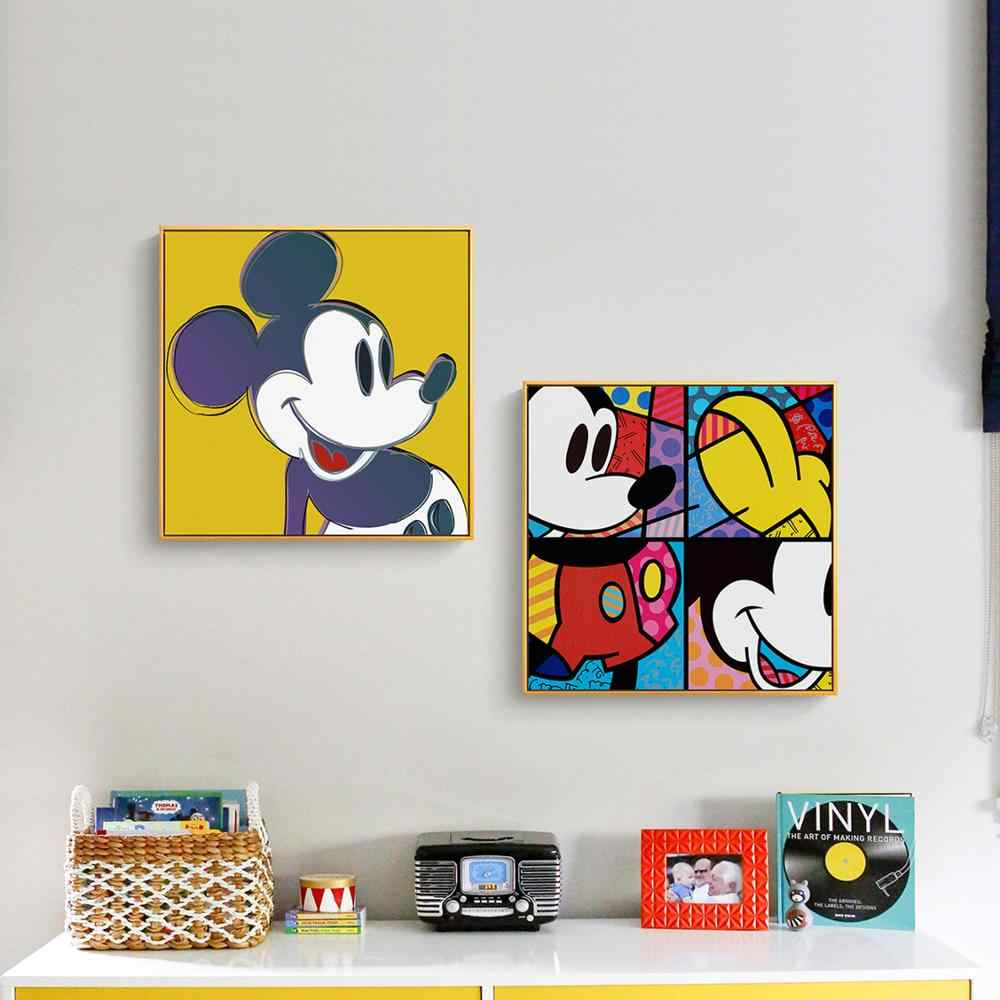 Cartoon Mickey Minnie Kwaliteit Wall Art Home Decor Canvas Schilderij Art Nordic Decoratie Woonkamer Kids Poster A553