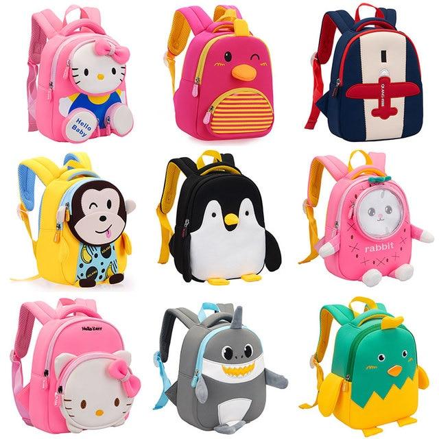 GREATOP 2021 New 3D Children School Bags for Girls Boy Children Backpacks Kindergarten Cartoon Animal Toddle Kids Backpack 1