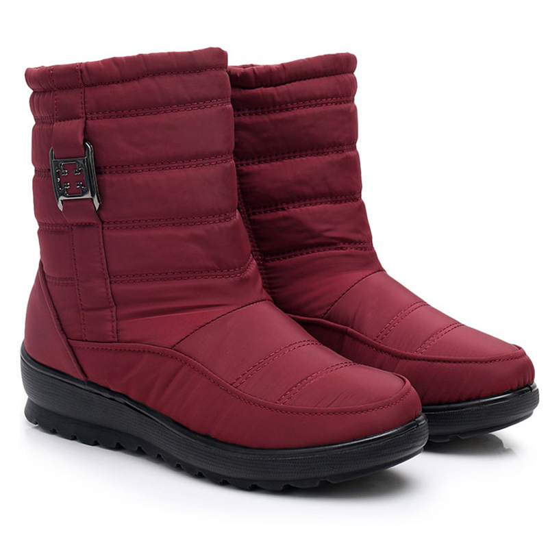 Schnee Stiefel Frauen Wasserdichte Frau Schuhe frauen Stiefel Dicken Plüsch Warme Winter Wasserdichte Mutter Schuhe Damen Ankle <font><b>Boot</b></font> image