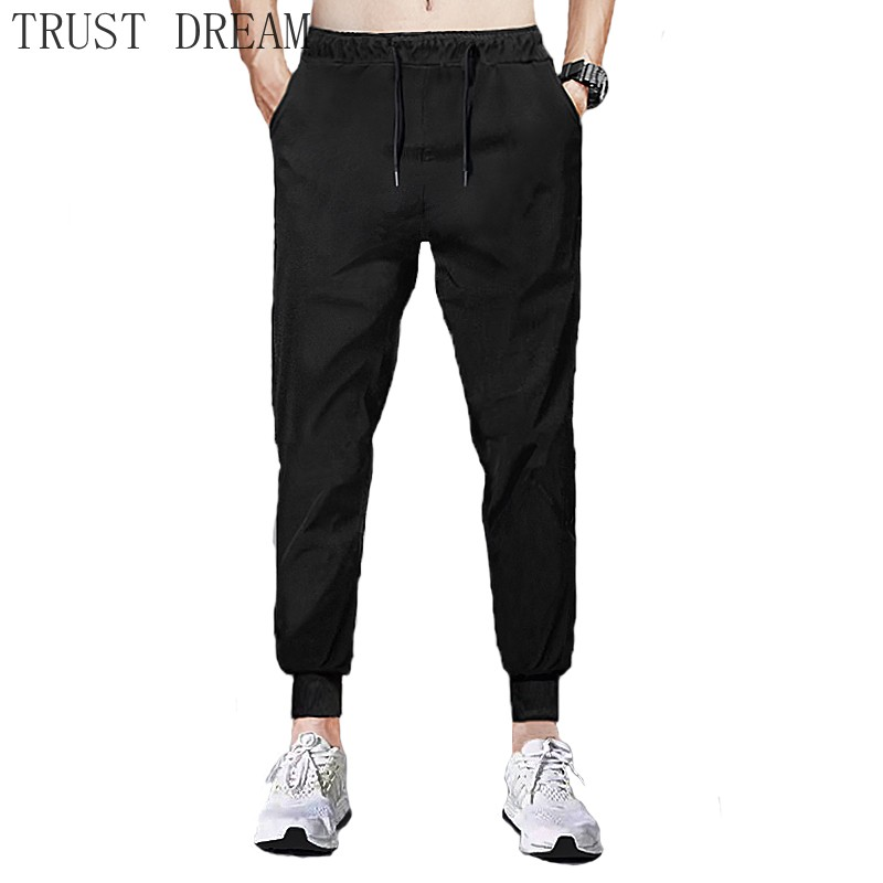 New Men's Jogger Pants Slim Black Male Casual Fit Sweatpants Streetwear Home Man Basic sweater Pant Soft Breathable Clothing