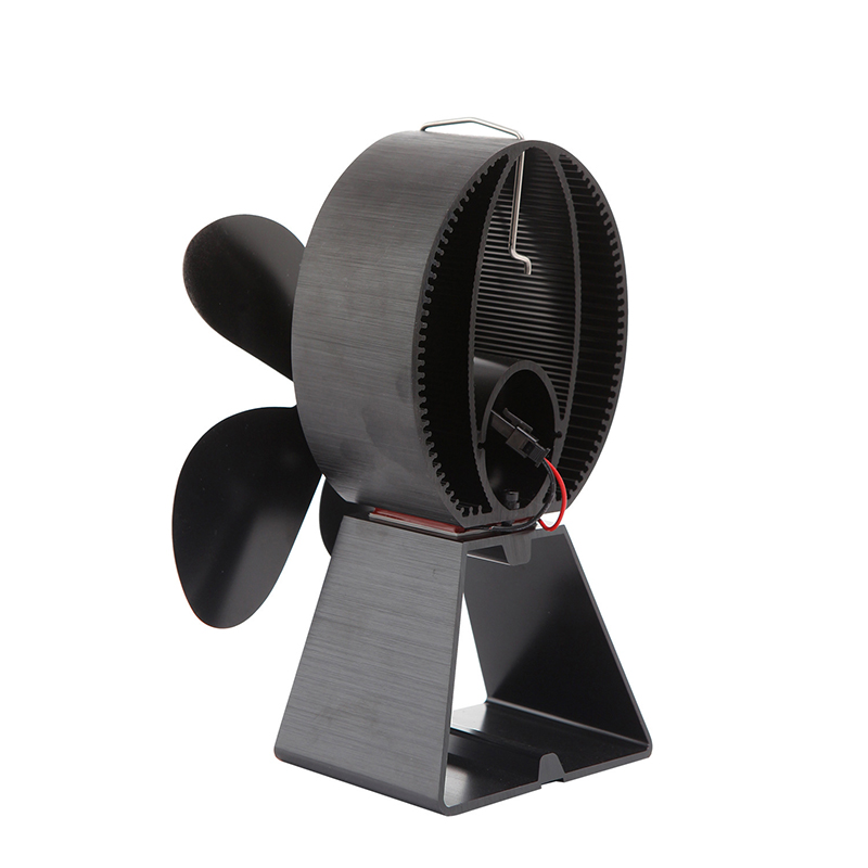 4 Leaves Stove Fan Heat Activated Fireplace Thermally Controlled Air Circulator