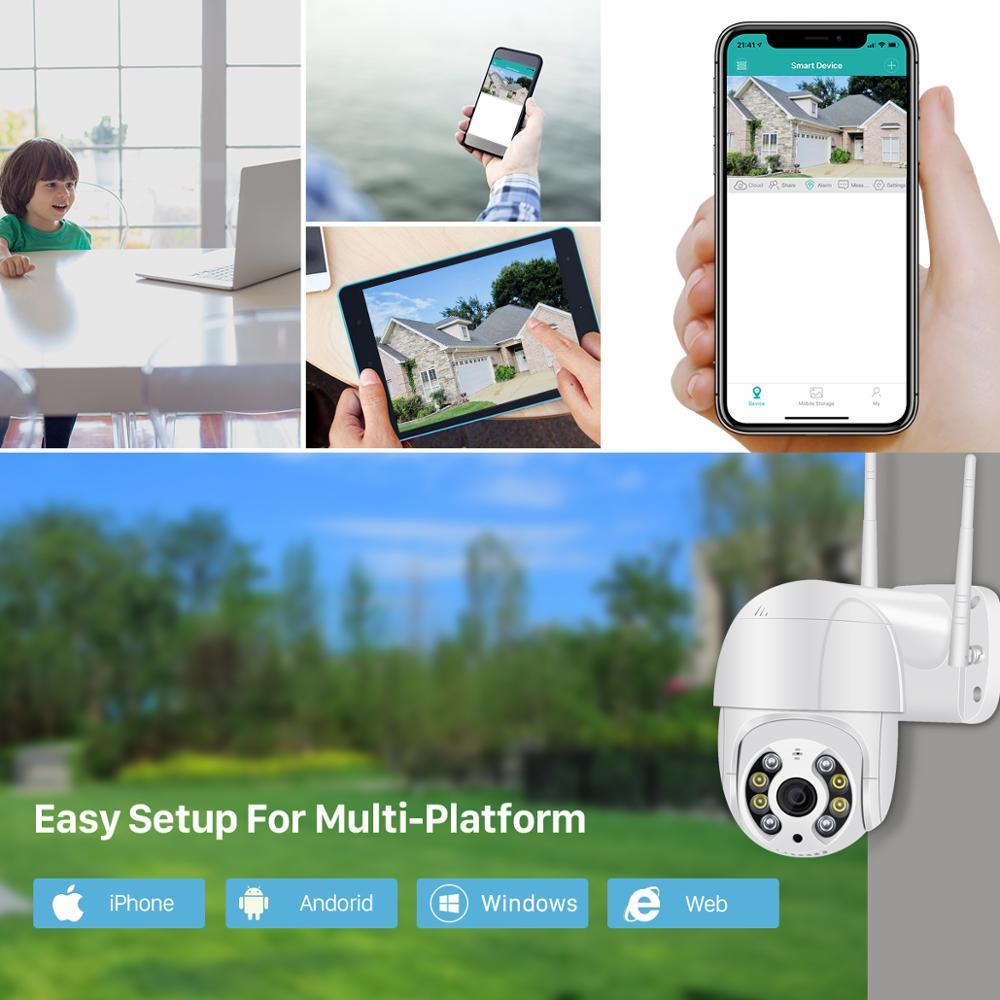 BESDER 5MP PTZ IP Camera Wifi Outdoor AI Human Detection Audio 1080P Wireless Security CCTV P2P RTSP 4X Digital Zoom Wifi Camera 4