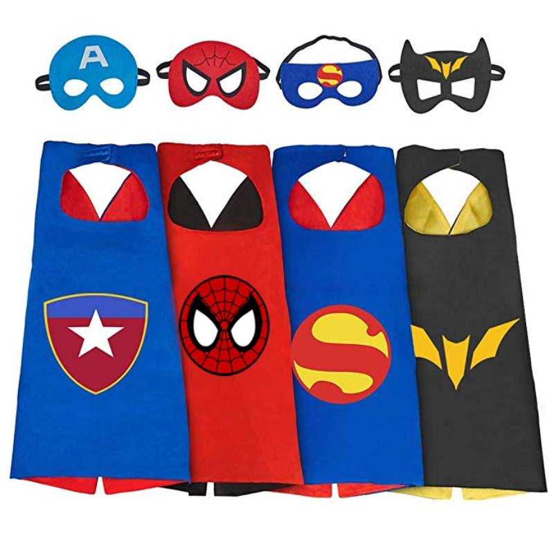 Manufacturers Supply Children's Cartoon Hero Cloak Custom Wholesale New Double Halloween Spiderman Cloak