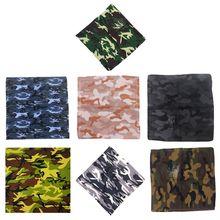 Unisex Camouflage Print Cotton Bandanas Military Tactical Headwrap Outdoor Jungle Wristband Sports Cycling Square Scarf Headwear футболка print bar jungle