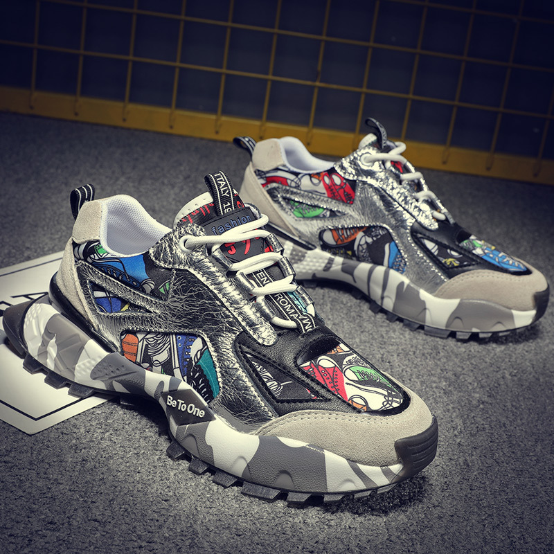 New street daddy shoes fashion hip hop casual shoes trend summer sports running breathable comfortable men's shoes