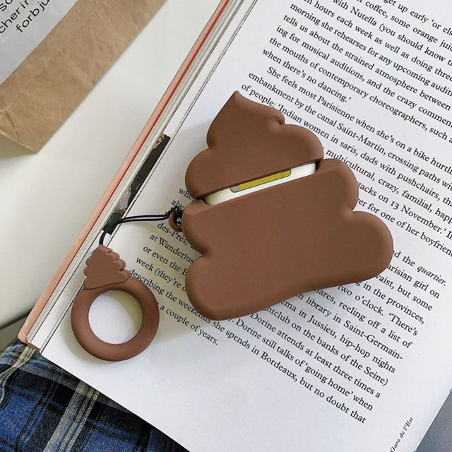 Funny Poop Pattern Airpods Case 1
