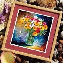 3d diy fita bordado ponto cruz pastoral cor flores para iniciante kits de costura artes artesanato decoração para casa