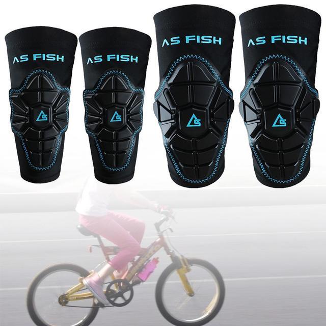 2 pièces/ensemble enfants genouillères coudières équipement de protection ensemble poignet garde pour Sports de plein air patinage vélo vélo roller Scooter