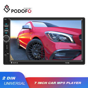 "Podofo 2 din Car Radio 7"" HD Autoradio Multimedia Player Mirror Link Double Din Auto audio Car Stereo Bluetooth Support Camera"