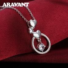 Ожерелья и подвески для женщин с круглым прозрачным фианитом