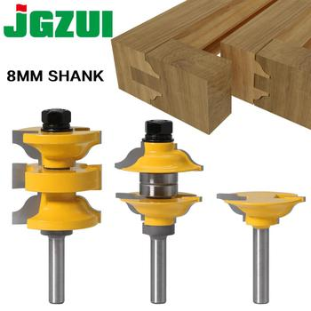 3pcs 8mm 12mm Shank Entry Interior Tenon Door Router Bit Set Ogee Matched R&S Router Bits Carving for Wood