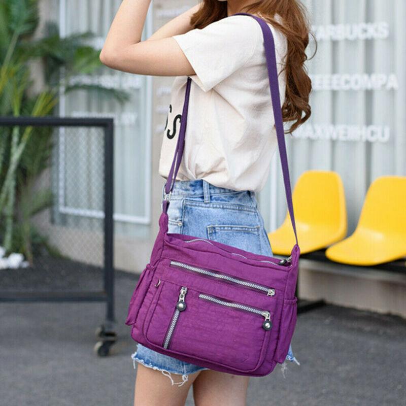 Women Useful Multi Pocket Handbag Sport Bag Young Ladies Portable Large Messenger Cross Body Outdoor Travel Running Bags