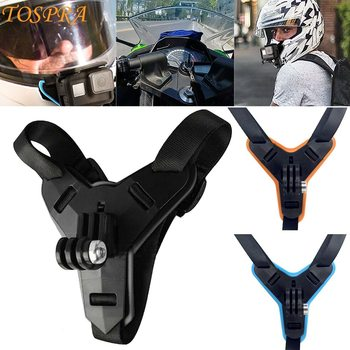 For gopro helmet holder Full Face Helmet Chin Mount Holder for GoPro 8 7 6 5 Motorcycle Stand Camera Accessories